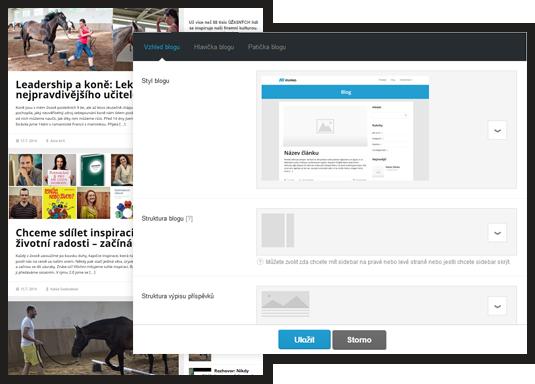 Ukázka možností nastavení vzhledu blogu pomocí jednoduchého vizuálního editoru