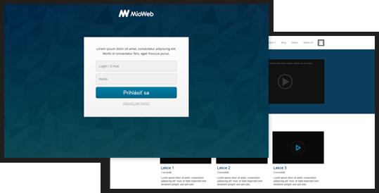 Vložení členské sekce na webové stránky MioWeb