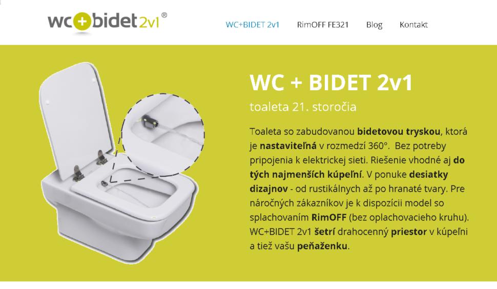 produktové webové stránky